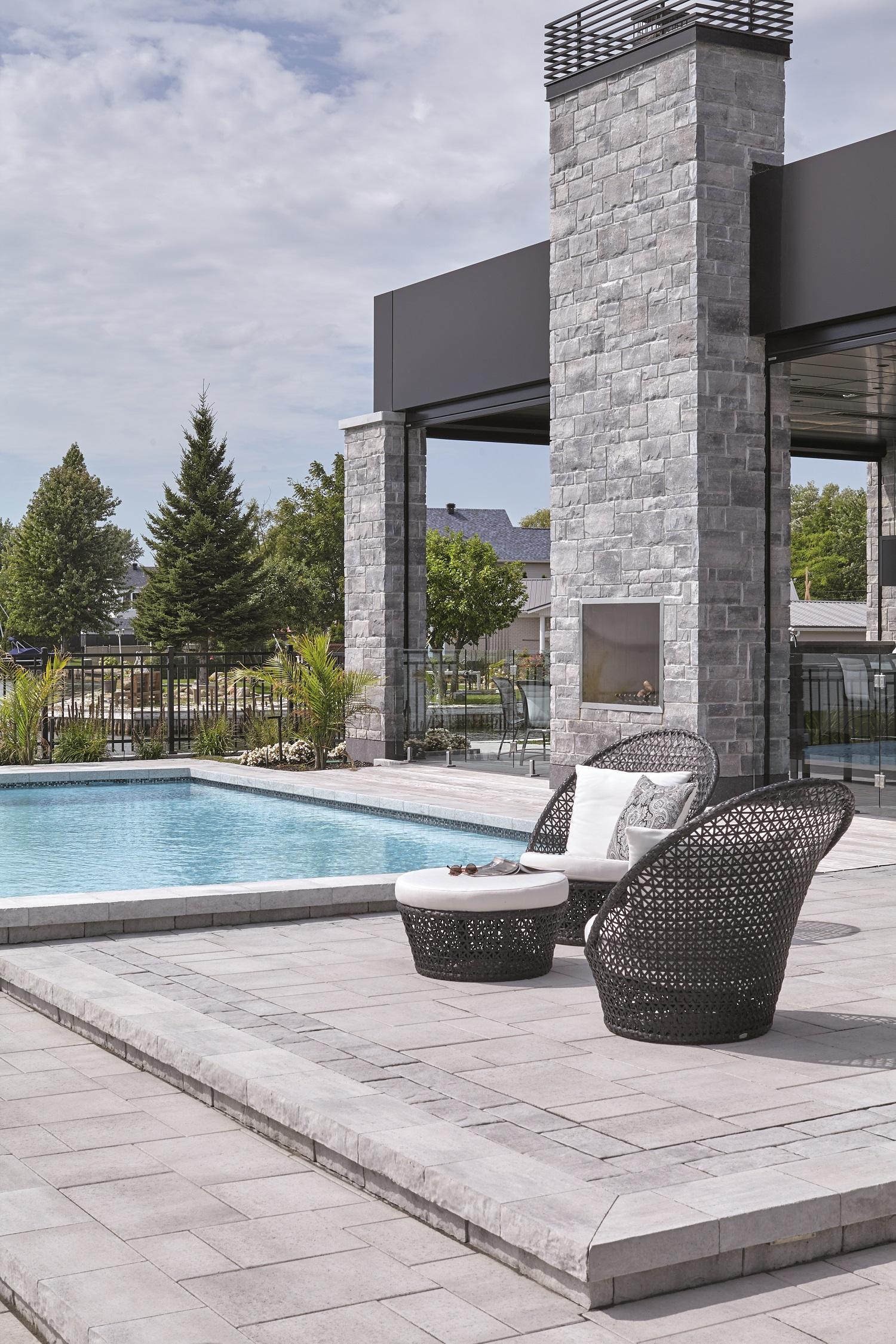 Pavé & paysagiste Boisbriand - Résidentiel - Aménagement - Lame d'eau - Boisbriand