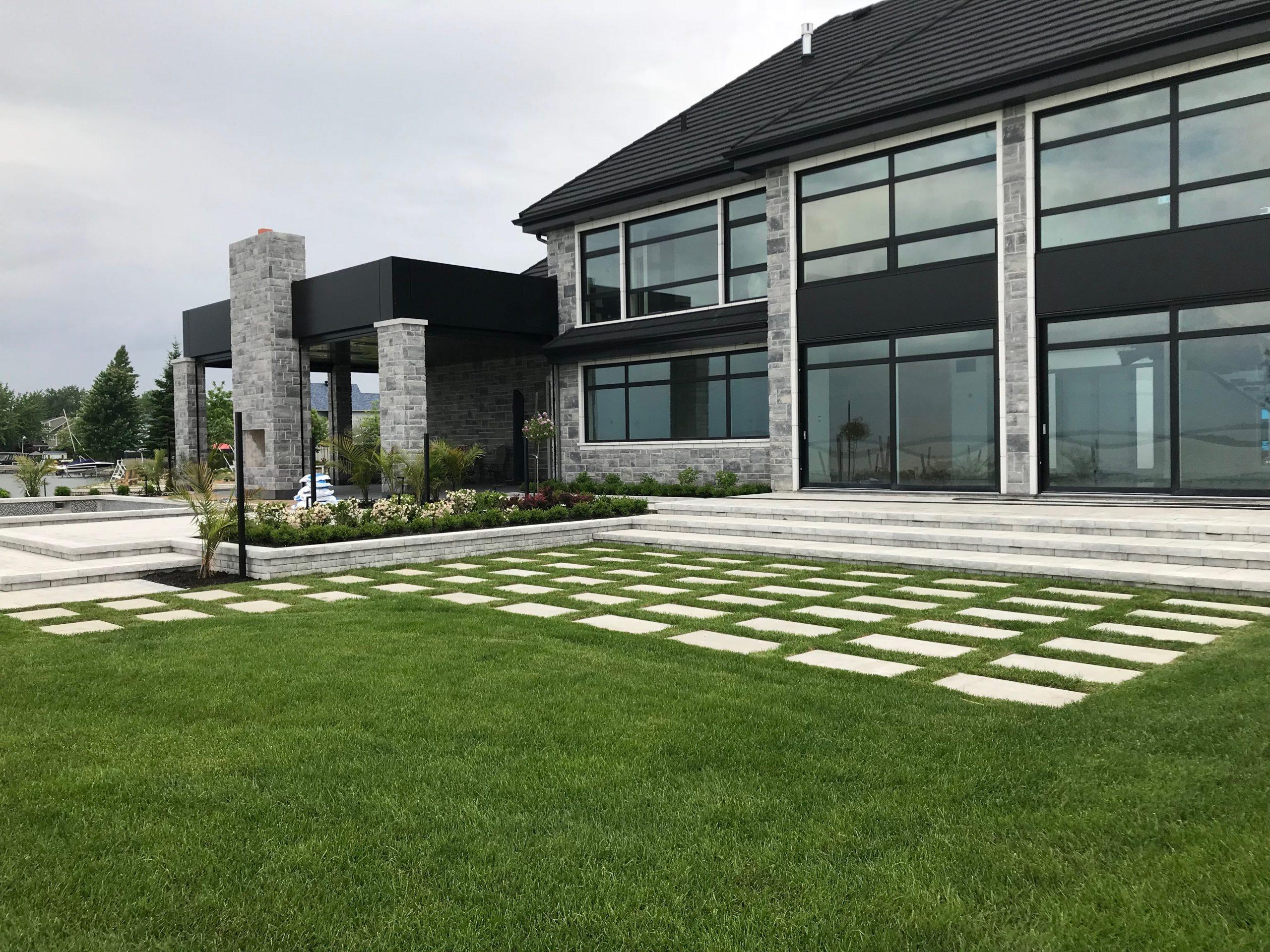 Pavé & paysagiste Boisbriand - Résidentiel - Aménagement - Cour arrière - Boisbriand